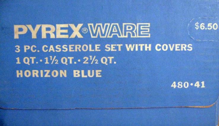 pyrex horizon blue box