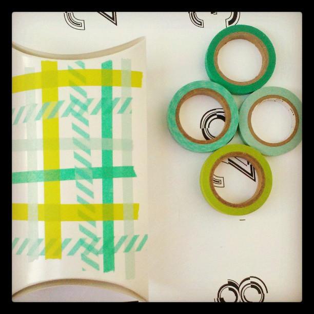 washi tape weaving