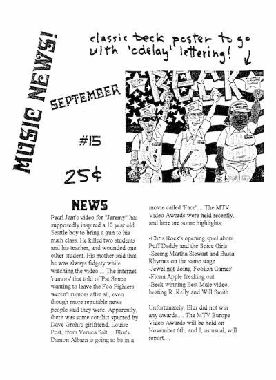 music news 90s zine