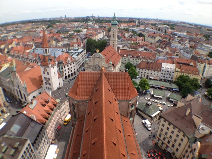 munich rooftops as seen from alte peter