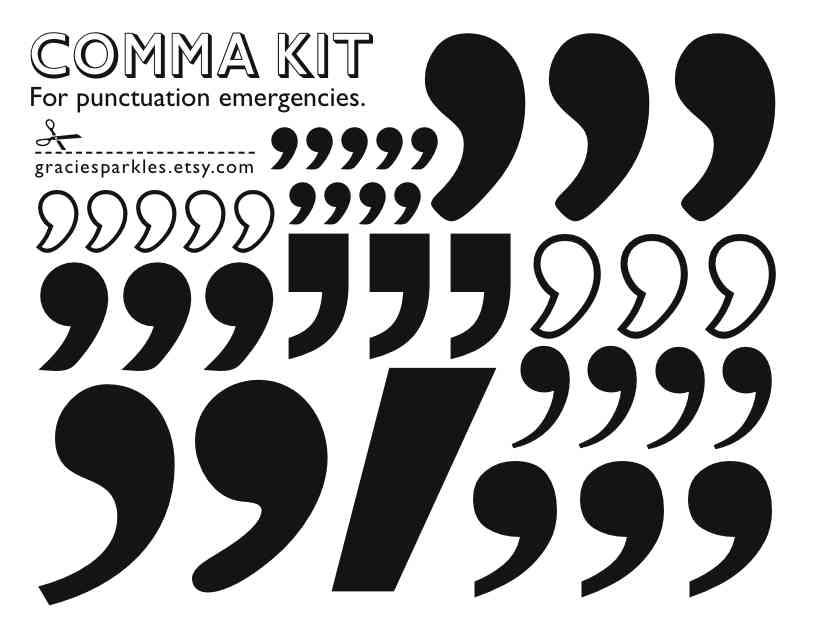 comma stickers