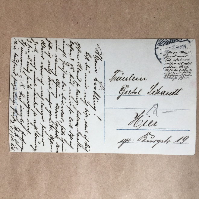deciphering and translating an old german postcard