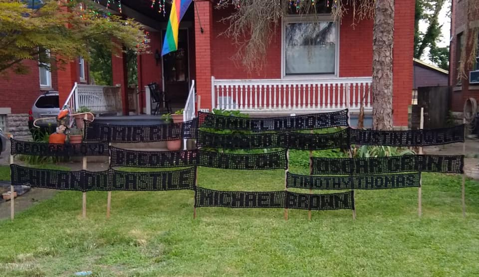 crochet their names, cincinnati crochet craftivism project