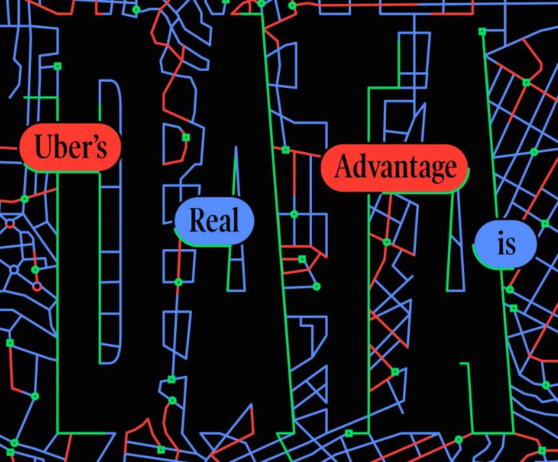 uber's advantage is data, marker